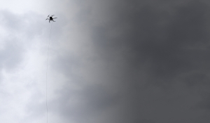 Tethered drone, with unlimited autonomy and secure communications for surveillance, inspection and communications.