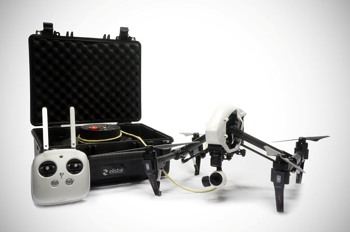 Tethering station for drones