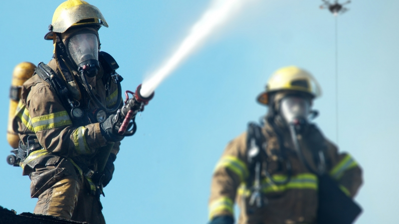 Drone Tether for Firefighting