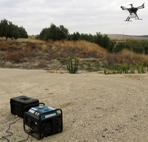 Vodafone drone flying unlimited with Elistair Tethered UAV station