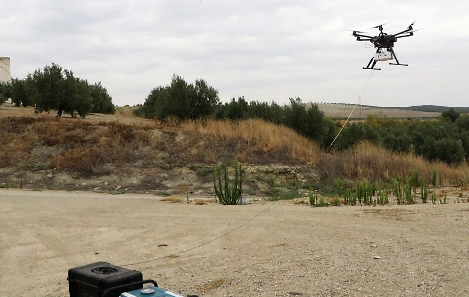Elistair Tethered UAV System tested by Vodafone for 4G coverage