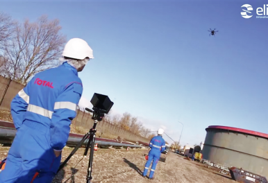 Elistair tethered UAV system sollicited by TOTAL TDR