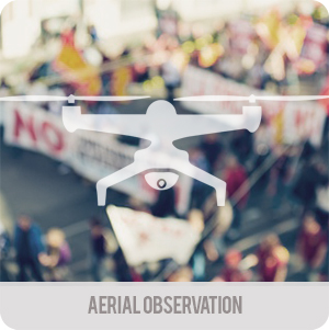 Crisis management - applications - aerial observation