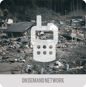Emergency telecommunications - Applications - on demand network