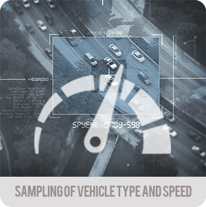 Traffic monitoring - applications - Sampling of vehicles types and speed