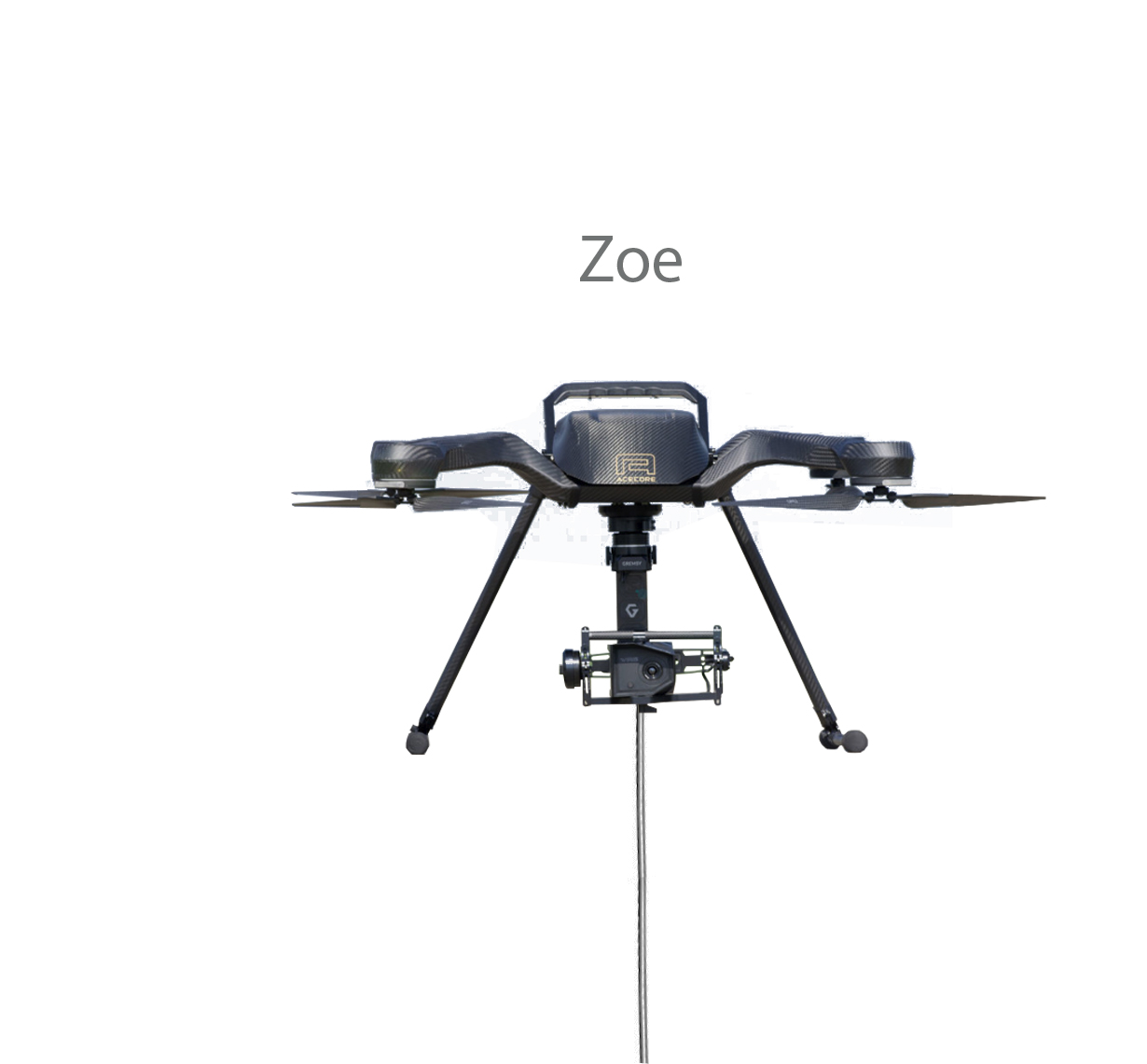 Acecore Zoe is compatible with the Ligh-T V.3 tethered Drone Station