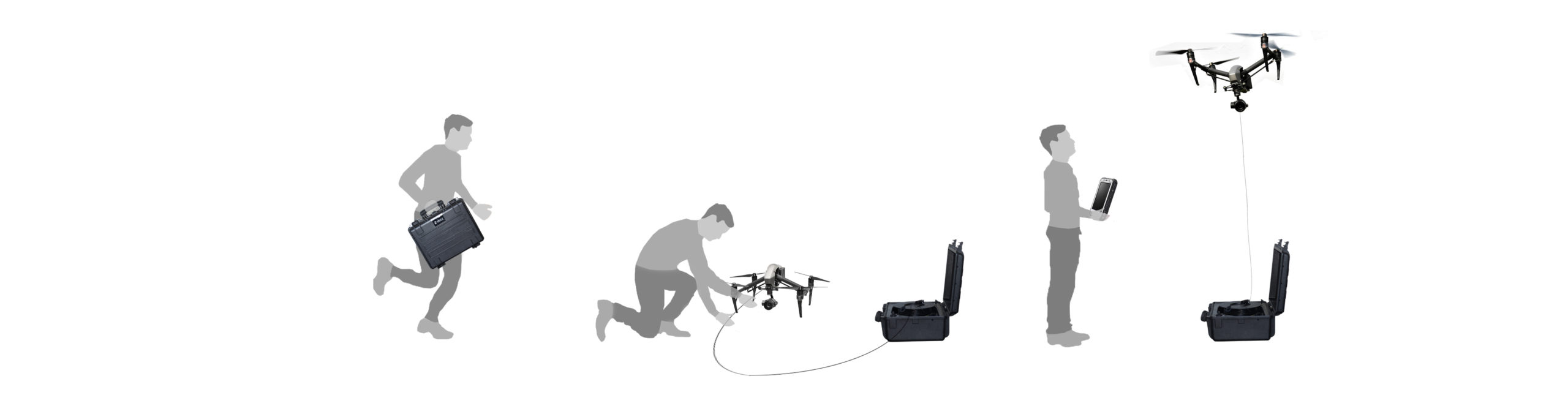 Ligh-T V.3 tethered drone station can be easily transportable, deployable and operable