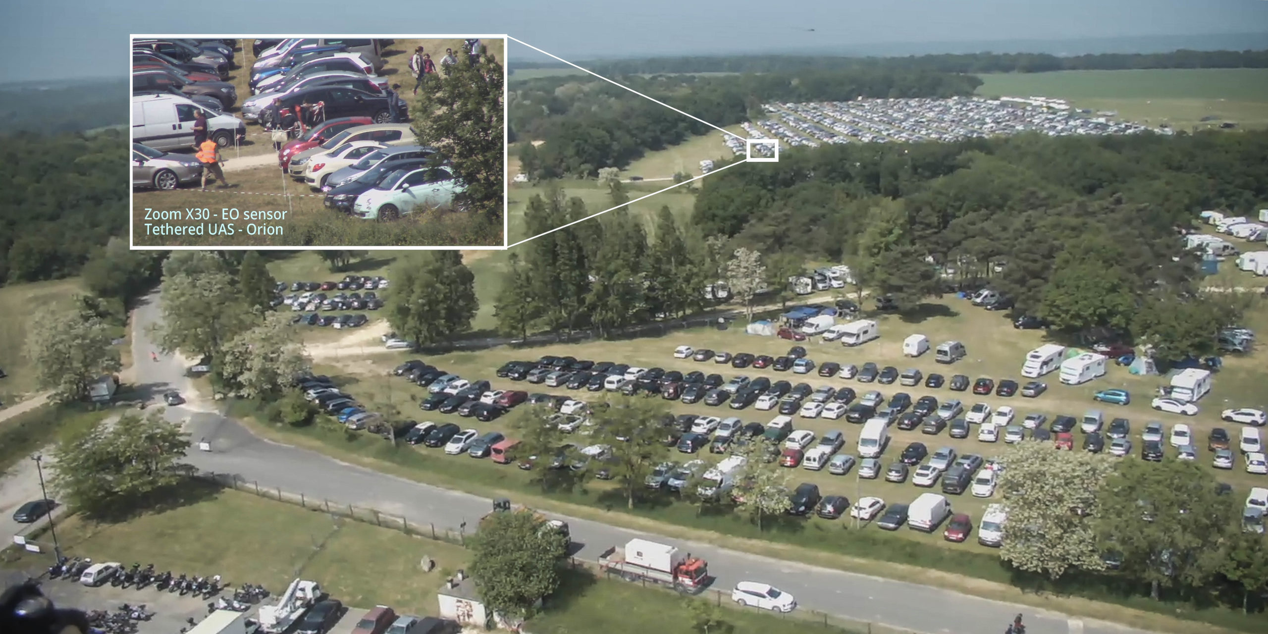Elistair tethered drone for France 2nd largest air show, for flow management.