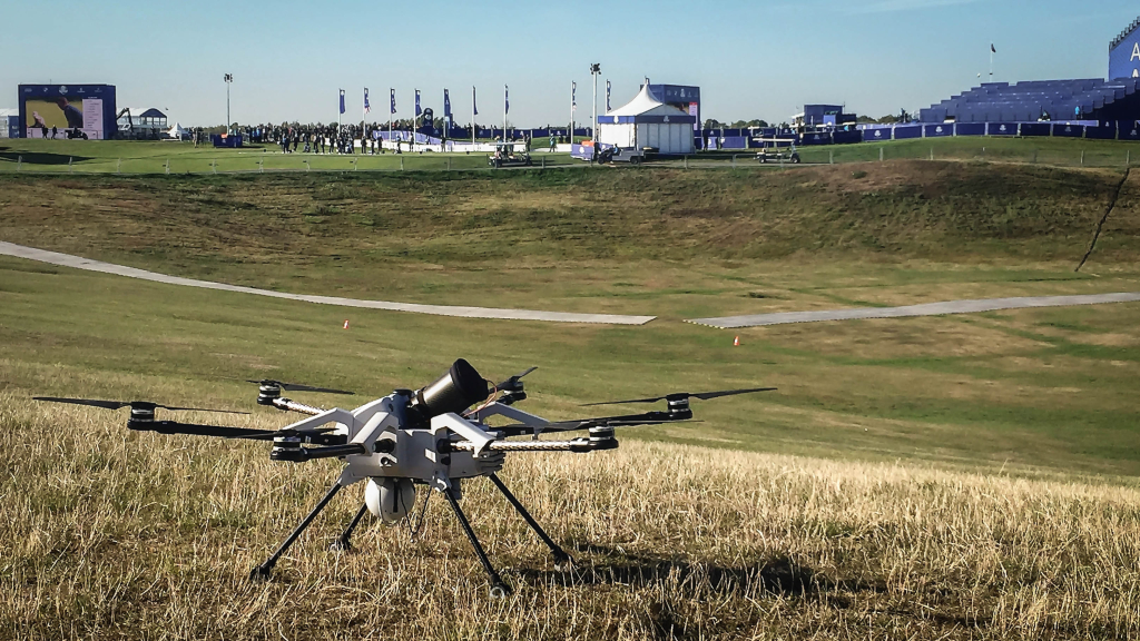 Orion tethered drone ryder cup