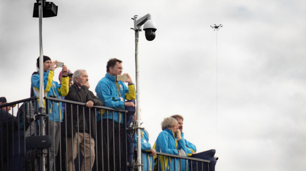 Elistair tethered drone aerial surveillance ryder cup