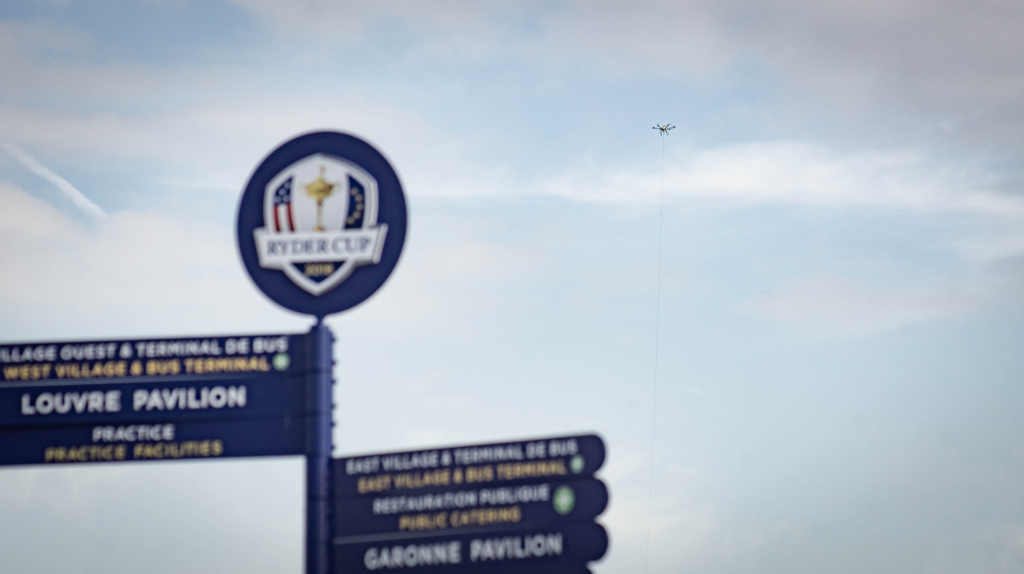 Orion Tethered drone - Ryder Cup security