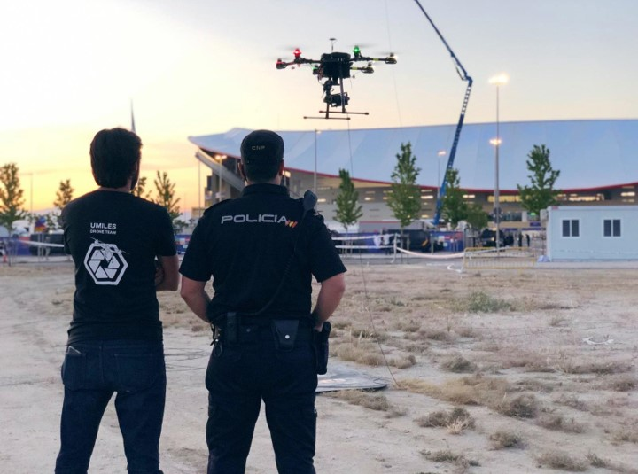 Spanish Police Chooses Elistair Drone Tether for the UEFA Champions League.