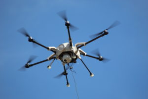 Orion tethered drone for defense
