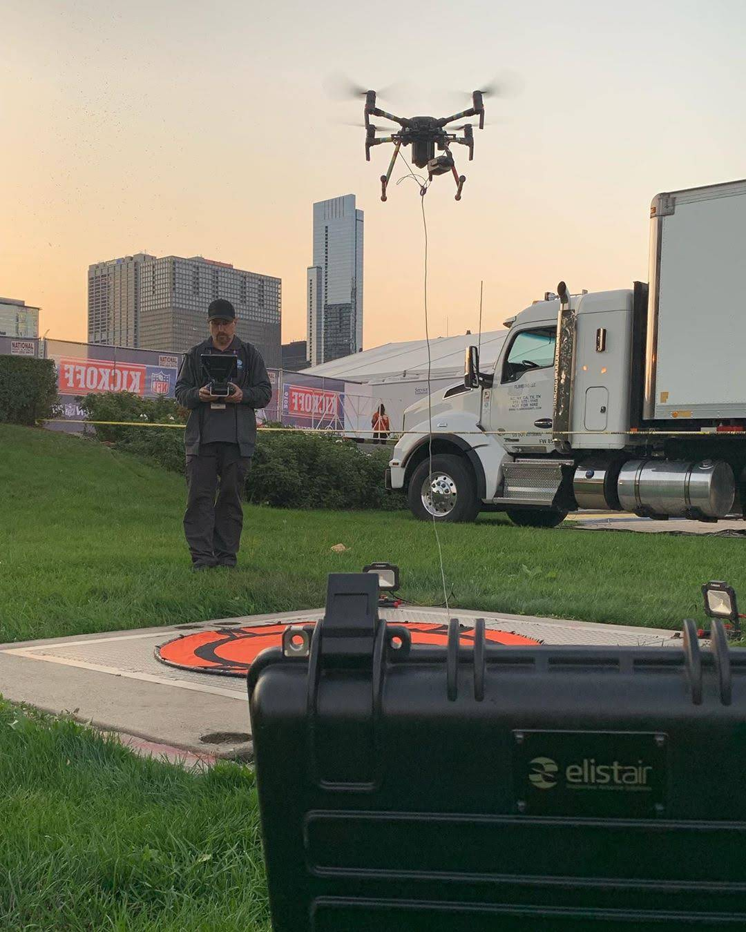 Elistair tethered drones for secured flight