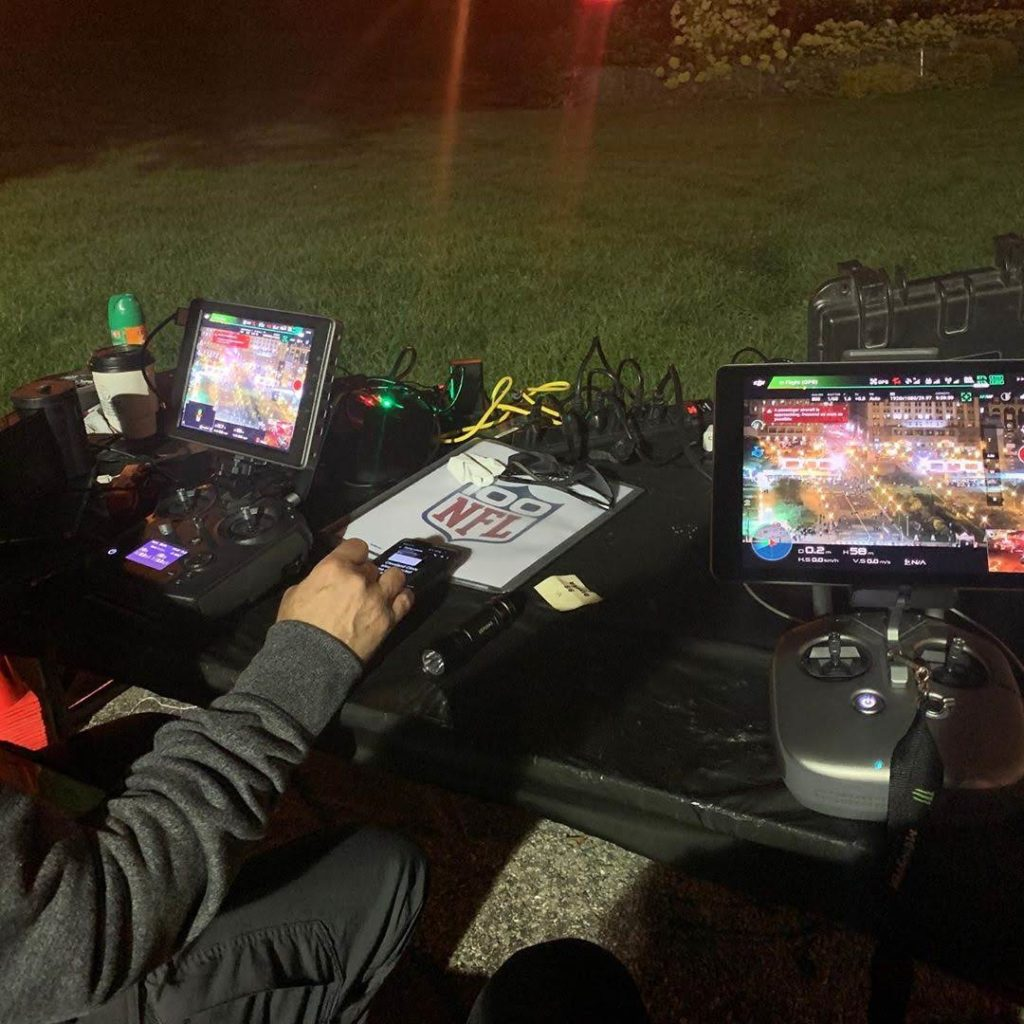 crowd monitoring with tethered drone