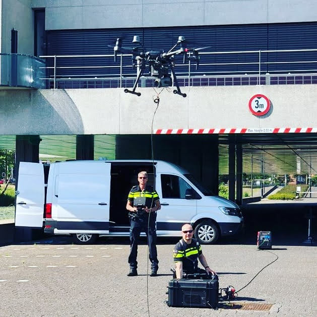 Police drone for Security applications