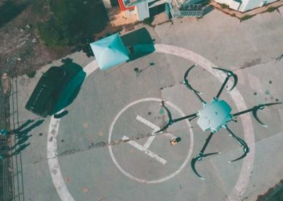 Drone tether system Orion 2 view from above