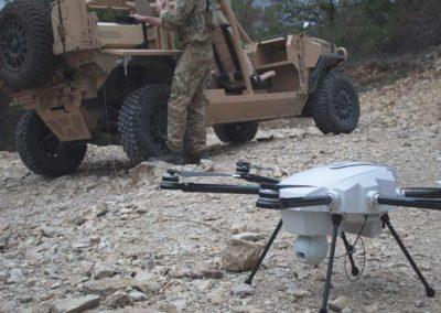 Tethered UAV Orion 2 ready to take off for military missions