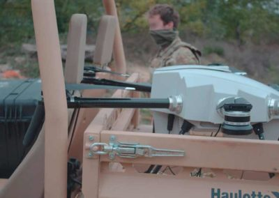 Drone tether Orion 2 carried on military vehicle