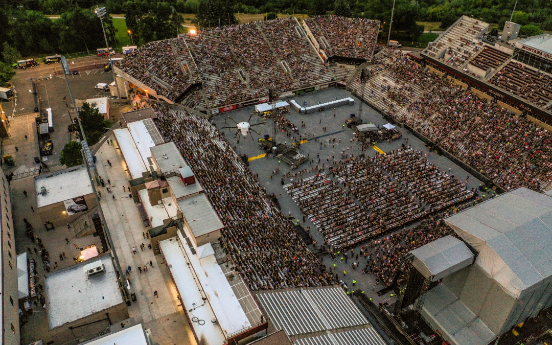 Orion 2 Tethered Drone Deployed by CloudCover for the Security of Guns N' Roses Concert